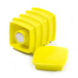 BX-SQ30/yellow, Boston Xtra vierkant, set met 5 kantoormagneten neodymium, vierkant, geel