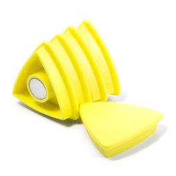 BX-TR30/yellow, Boston Xtra driehoekig, set met 5 kantoormagneten neodymium, driehoekig, geel