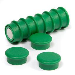 BX-RD20/green, Boston Xtra Mini round, set of 10 office magnets neodymium, green