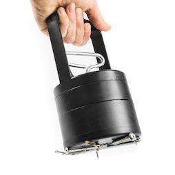 WS-PUT-04, Magnetische inzamelhulp, met loslaat-mechanisme, 100 mm doorsnede, zwart