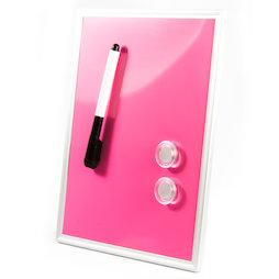 SALE-118, Mini-Whiteboard Pink, 216 x 280 mm, inkl. Marker und zwei Magnete