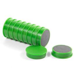 M-OF-RD30/green, Magneti per lavagna in ferrite, plastificato, set da 10, verde
