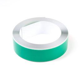 M-FERROTAPE/5m, Cinta metálica adhesiva blanca, base adhesiva para imanes, ancho 35 mm, rollo de 5 m