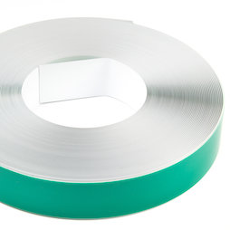 M-FERROTAPE/25m, Metaalband zelfklevend wit, zelfklevende hechtoppervlak voor magneten, rollen à 1 m / 5 m / 25 m, rol à 25 m