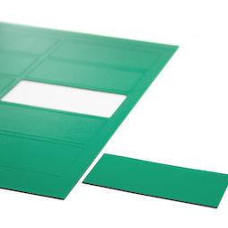 BA-014RE/green, Magnetische symbolen rechthoek groot, voor whiteboards & planborden, 10 symbolen per A4-blad, groen