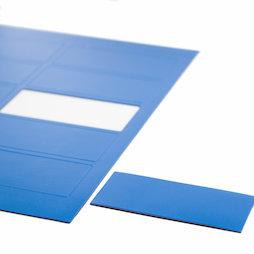 BA-014RE/blue, Magnetische symbolen rechthoek groot, voor whiteboards & planborden, 10 symbolen per A4-blad, blauw