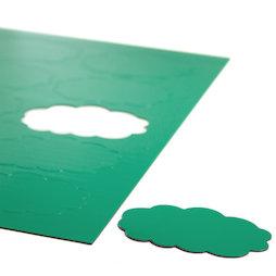 BA-014CL/green, Nubes magnéticas, para pizarras blancas y de planificación, 10 símbolos por hoja A4, verde