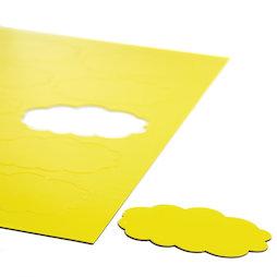 BA-014CL/yellow, Nubes magnéticas, para pizarras blancas y de planificación, 10 símbolos por hoja A4, amarillo