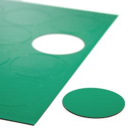 BA-014CI/green, Magnetische symbolen cirkel groot, voor whiteboards & planborden, 12 symbolen per A4-blad, groen