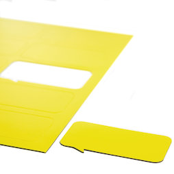 BA-014BR/yellow, Magnet symbols Speech Bubble, rectangular, for whiteboards & planning boards, 10 symbols per A4 sheet, yellow