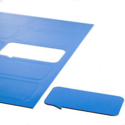 BA-014BR/blue, Magneetsymbolen tekstballon rechthoekig, voor whiteboards & planborden, 10 symbolen per A4-blad, blauw