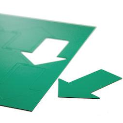 BA-014AR/green, Magnetsymbole Pfeil groß, für Whiteboards & Planungstafeln, 8 Symbole pro A4-Bogen, grün