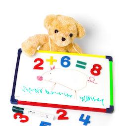 KMWB-2435, Kinder-Whiteboard 24 x 35 cm, zum Malen, Spielen, Schreiben & Lernen, magnetisch