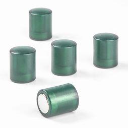 M-PC/greent, Magneti per lavagna cilindrici, magneti al neodimio con cappuccio in plastica, Ø 14 mm, verde trasparente