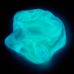 M-PUTTY-GLOW/aurora, Silly Putty Glow 'Northern Light', glows in the dark, milky blue, not magnetic!