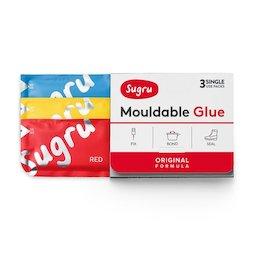 SUG-03/mixed1, Sugru, pack de 3 uds., pegamento moldeable, 1x rojo, 1 x amarillo, 1x azul, paquetes de 5 g