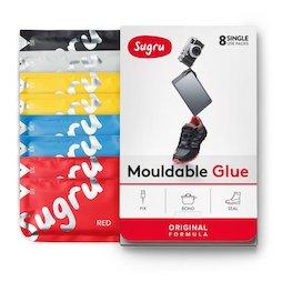SUG-08/mixed1, Sugru, pack de 8 uds., pegamento moldeable, 1x negro, 1x blanco, 2x rojo, 2x azul, 2x amarillo, paquetes de 5 g