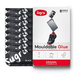 SUG-08, Sugru Set of 8, mouldable glue, in different colours, packages of 5 g each