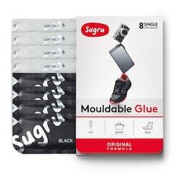 SUG-08/mixedbw, Sugru 8er-Pack, formbarer Kleber, 4x schwarz, 4x weiß, Packungen zu je 5 g