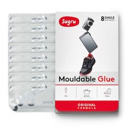SUG-08/white, Sugru, pack de 8 uds., pegamento moldeable, blanco, paquetes de 5 g