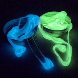 M-PUTTY-GLOW, Intelligent putty Glow, geeft licht in het donker, verschillende kleuren, niet magnetisch!