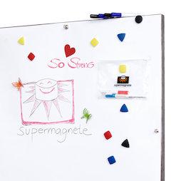 FS-100500MWBG-STIC, Whiteboardfolie selbstklebend ferromagnetisch, idealer Haftgrund für Magnete, Rolle à 1 x 5 m