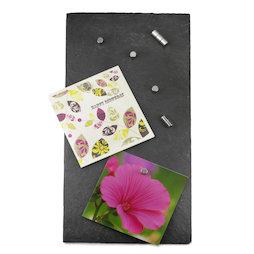 FO-8, Magneetbord leisteen, hoogwaardig en exclusief, 40 x 20 cm, incl. 10 sterke magneten