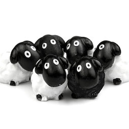 LIV-52, Sheep, deco magnets shaped as sheeps, set of 6