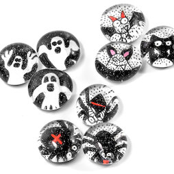 LIV-129, Halloween, Handmade fridge magnets, set of 3