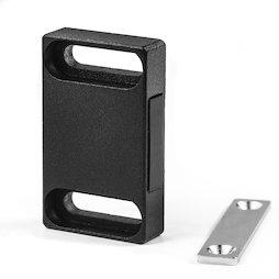 M-FURN-04/sideward, Magneetbeslag breed voor meubels, van metaal, met tegenplaat, houdvlak zijdelings