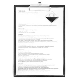 WS-WSF-02, Clipboard black, magnetic, with foil coating, A4 format