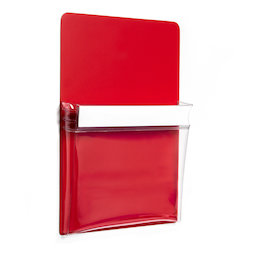 MP-A5/red, Funda magnética roja A5, para oficinas y talleres, formato A5