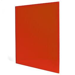 GMBB-4550/red, Panel de notas cristal cuadrado, 45 x 50 cm, en diferentes colores