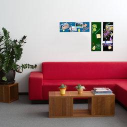 GMBB-2060, Lavagna magnetica in vetro rettangolare, 20 x 60 cm, in diversi colori