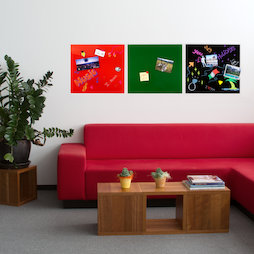 GMBB-4550, Lavagna portamemo in vetro quadrata, 45 x 50 cm, in diversi colori