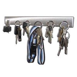 FO-1, Pannello portachiavi magnetico 32 cm, barra magnetica, in acciaio inox, per 6 chiavi