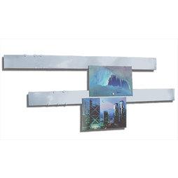 FO-5, Barra magnética acero inoxidable 50 cm, 2 uds., base para adherir imanes, con sistema de fijación magnético, 12 potentes imanes incluidos