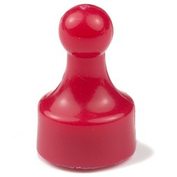 M-PIN/red, Magnetpins 'Player', Pinnwand-Magnete in Form einer Spielfigur, 10er-Set, rot