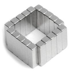 Q-15-04-04-MN, Parallélépipède magnétique 15 x 4 x 4 mm, néodyme, 45M, nickelé