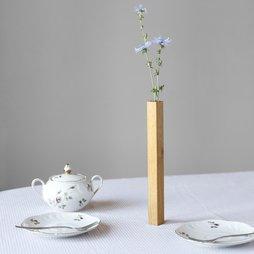 LIV-34, Vase magnétique chêne, vase en bois de chêne, adhère magnétiquement sur une plaque en métal, en emballage cadeau