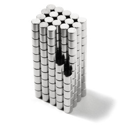 S-02-02-N, Schijfmagneet Ø 2 mm, hoogte 2 mm, neodymium, N48, vernikkeld