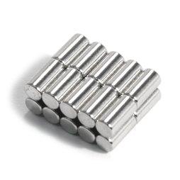 S-03-06-N, Rod magnet Ø 3 mm, height 6 mm, neodymium, N48, nickel-plated