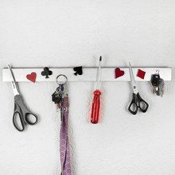FO-2, Schlüsselbrett magnetisch 50 cm, Magnetleiste, aus Edelstahl, für 11 Schlüssel