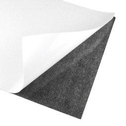 MS-A4-STIC, Selbstklebende Magnetfolie, Format A4, zum Zuschneiden & Aufkleben, grau-schwarz