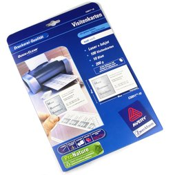 M-34, Blank business cards, Avery Zweckform C32011, for magnetic name tags, package of 10 sheets