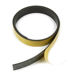 MT-20-STIC, Magnetic adhesive tape ferrite 20 mm, self-adhesive magnetic tape, Rolls of 1 m / 5 m / 25 m