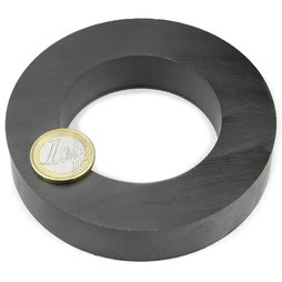 FE-R-100-60-20, Ringmagneet Ø 100/60 mm, hoogte 20 mm, ferriet, Y35, zonder coating