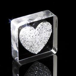 LIV-38, Diamond Heart, imán de nevera «Corazón», con cristales Swarovski