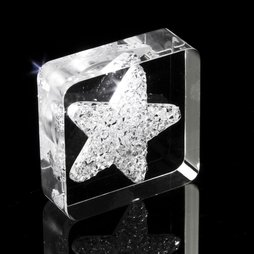 LIV-40, Diamond Star, fridge magnet Star, with Swarovski crystals