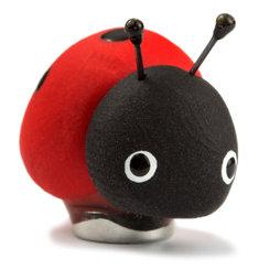 LIV-41/ladybug, Handmade Magnete, Unikate aus Fimo im 4er-Set, Marienkäfer